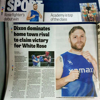 Wakefield Express - 3 June 2016 - Dixon dominates home town rival to claim victory for White Rose.