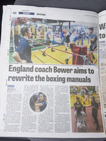 Wakefield Express - 8 June 2018 - England coach Bower aims to rewrite the boxing manuals.