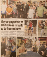 Wakefield Express - 26 April 2019 - Mayor pays visit to White Rose in build up to home show