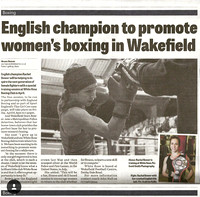 Wakefield Express - English champion to promote women's boxing in Wakefield.