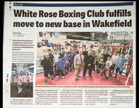 Wakefield Express - 25 September 2015 - White Rose Boxing Club fulfills move to new base in Wakefield.