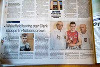 Wakefield Express - 11 July 2014 - Clark wins Tri-Nations.